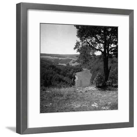 Bench Under Tree-George Marks-Framed Art Print