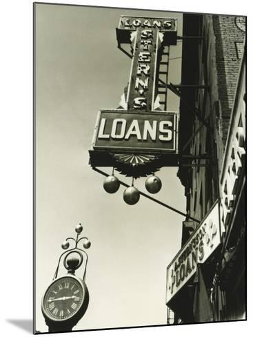 Pawnbrokers Signs Outside Shop, Low Angle View-George Marks-Mounted Photographic Print