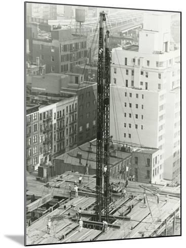 Workers on Building Site on Urban Setting, Elevated View-George Marks-Mounted Photographic Print