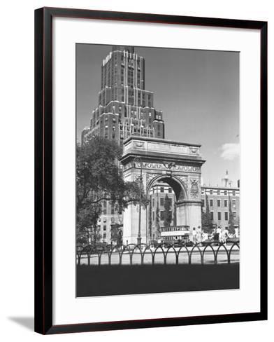 Washington Square Arch, New York City-George Marks-Framed Art Print