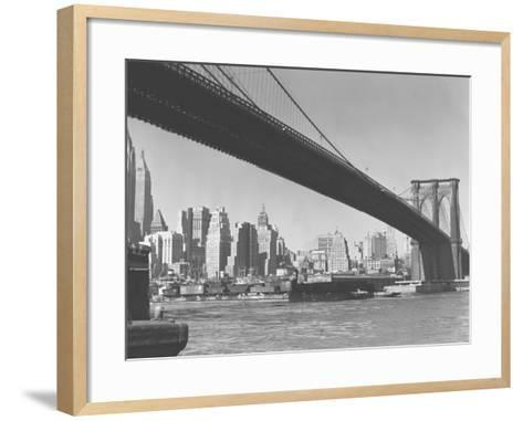 Brooklyn Bridge and Manhattan Skyline, New York City-George Marks-Framed Art Print