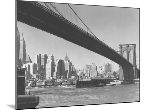 Brooklyn Bridge and Manhattan Skyline, New York City-George Marks-Mounted Photographic Print