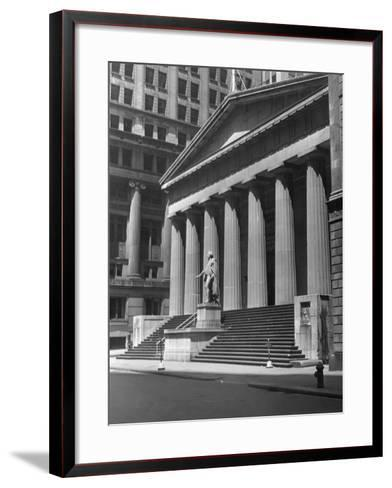 New York, Wall Street, Federal Building-George Marks-Framed Art Print