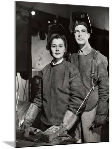 Couple in Ww Ii Defense Plant With Welding Gear-George Marks-Mounted Photographic Print