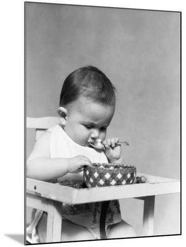Baby Eating-H^ Armstrong Roberts-Mounted Photographic Print