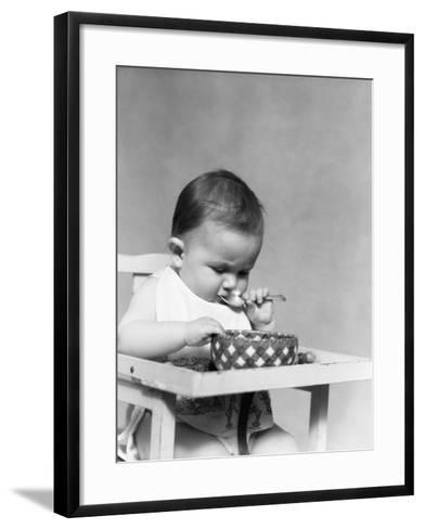 Baby Eating-H^ Armstrong Roberts-Framed Art Print