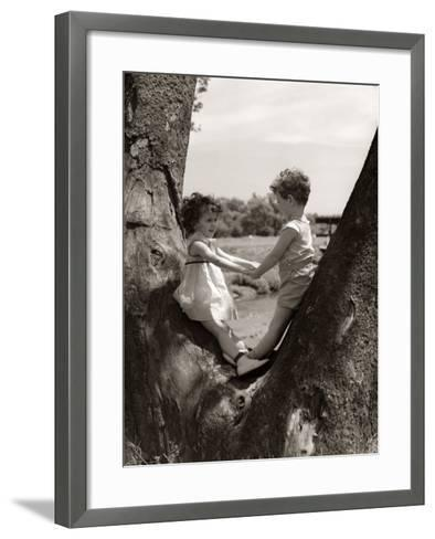 Boy and Girl Holding Hands-H^ Armstrong Roberts-Framed Art Print