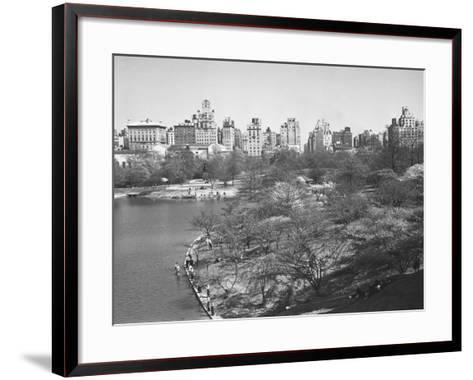 New York City, Central Park (B&W)-George Marks-Framed Art Print