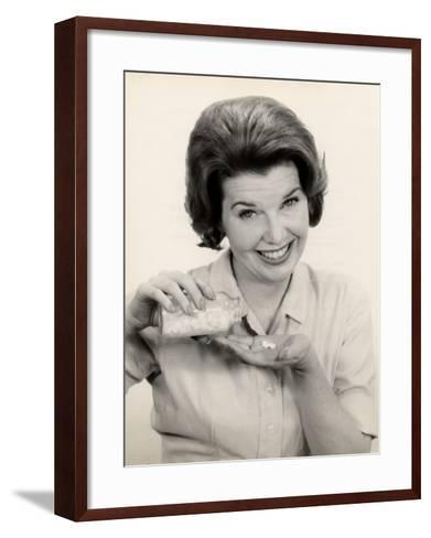 Woman With Pills and Pill Bottle-George Marks-Framed Art Print
