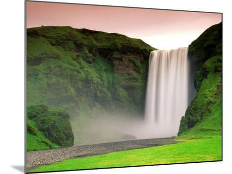 Skogafoss, South Iceland--Mounted Photographic Print