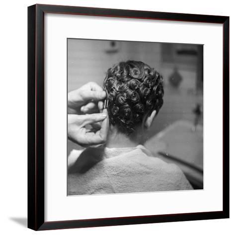 Hairdressing-Chaloner Woods-Framed Art Print