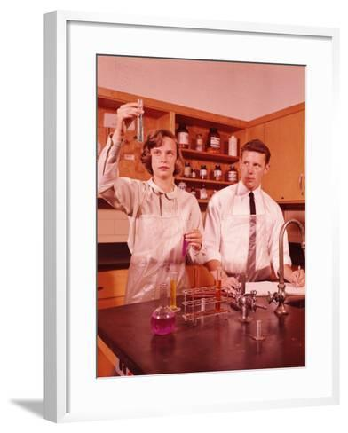 Students Conducting Chemistry Experiment-H^ Armstrong Roberts-Framed Art Print