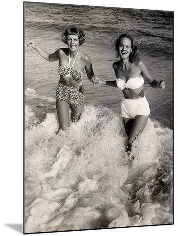 Women Playing in the Surf at the Beach-George Marks-Mounted Photographic Print