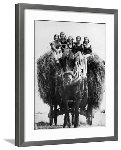 Ride on Hay Cart--Framed Art Print