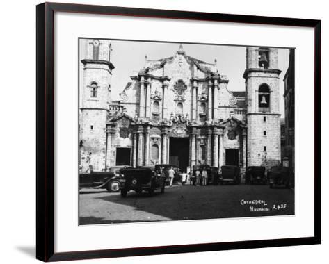Havana Cathedral--Framed Art Print