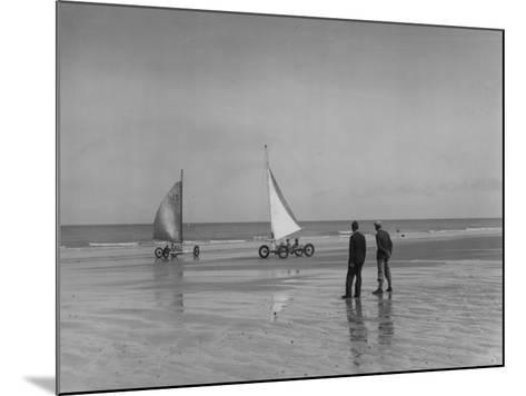 Sand Yachting--Mounted Photographic Print