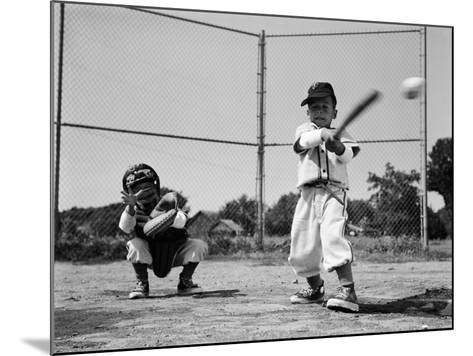 Boys Playing Baseball-H^ Armstrong Roberts-Mounted Photographic Print