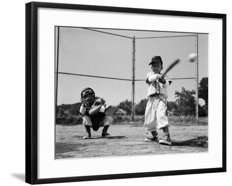 Boys Playing Baseball-H^ Armstrong Roberts-Framed Art Print
