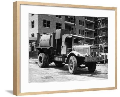 Concrete Truck on Site of Construction-George Marks-Framed Art Print