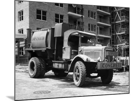 Concrete Truck on Site of Construction-George Marks-Mounted Photographic Print