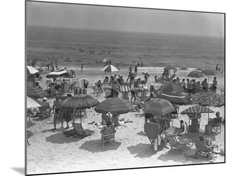 People Relaxing on Beach, Elevated View-George Marks-Mounted Photographic Print