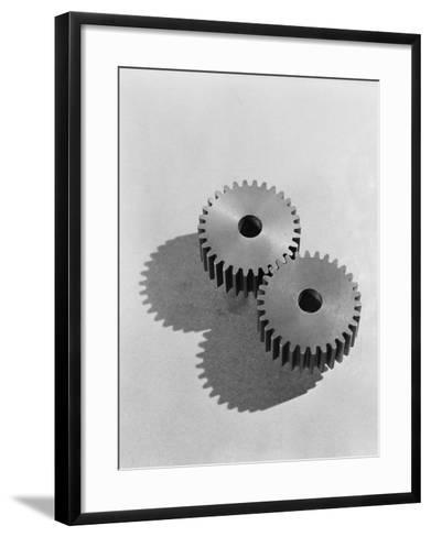 Two Interlocking Gears-H^ Armstrong Roberts-Framed Art Print