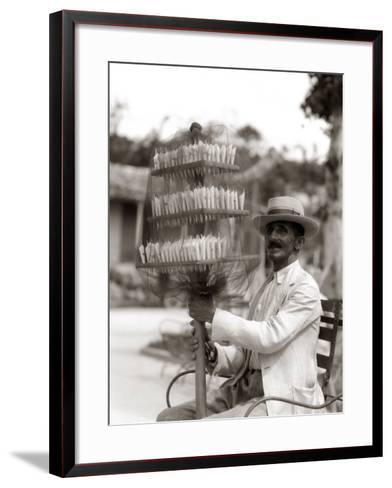 Havana Cuba Local Man Candyman Holding Three Tier-H^ Armstrong Roberts-Framed Art Print