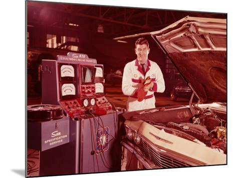 Mechanic in Service Station, Testing Car Engine-H^ Armstrong Roberts-Mounted Photographic Print