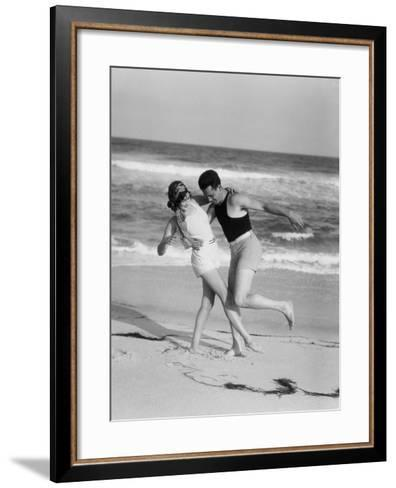 Couple on Beach-H^ Armstrong Roberts-Framed Art Print