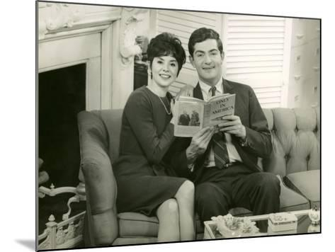 Couple Reading Together on Couch-George Marks-Mounted Photographic Print