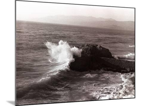 Sea Waves Crashing Against Rock-George Marks-Mounted Photographic Print