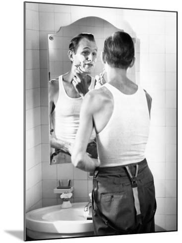 Man Shaving-George Marks-Mounted Photographic Print