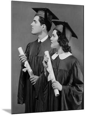 Portrait of High School Graduates-George Marks-Mounted Photographic Print