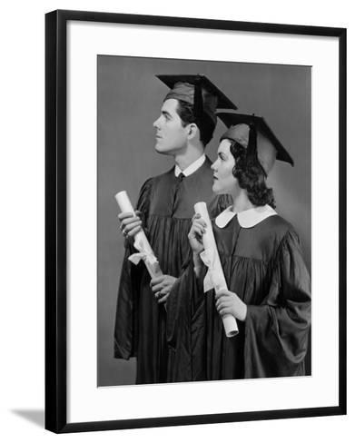 Portrait of High School Graduates-George Marks-Framed Art Print