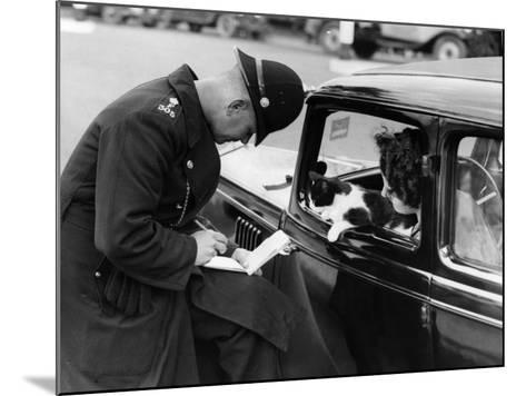 Checking Licences--Mounted Photographic Print