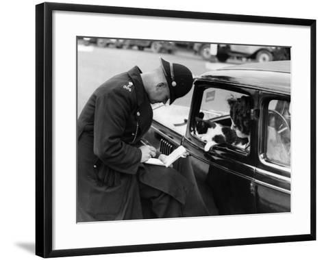 Checking Licences--Framed Art Print