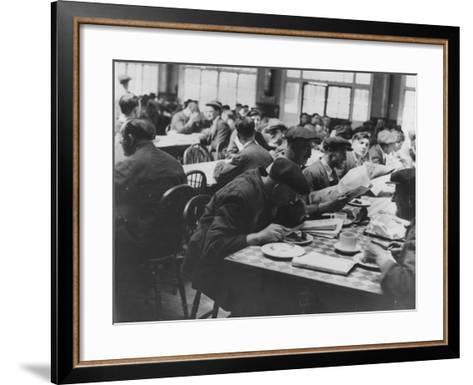 Lunchtime Reading--Framed Art Print