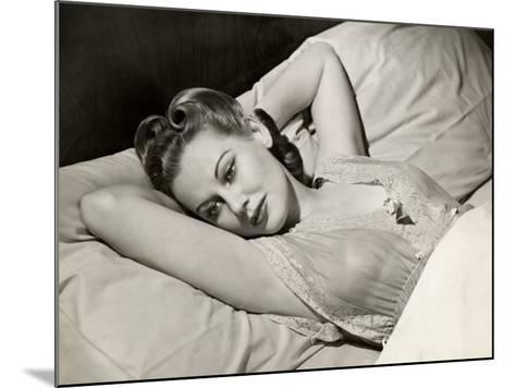 Woman in Lace Night Gown in Bed-George Marks-Mounted Photographic Print