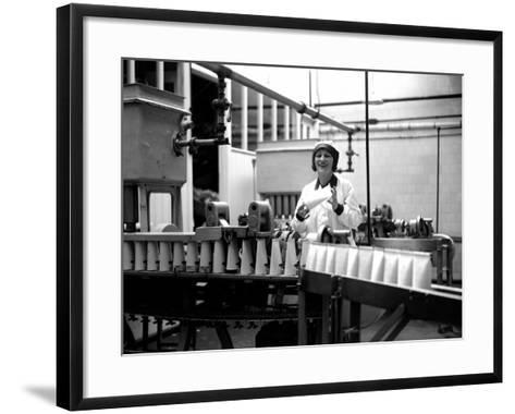 Milk Bottling Plant--Framed Art Print