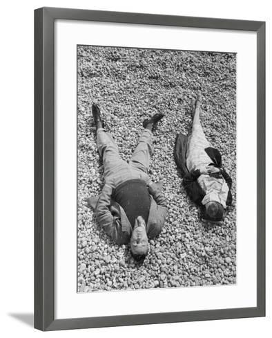 Seaside Sunbathing--Framed Art Print