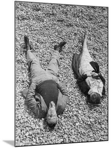 Seaside Sunbathing--Mounted Photographic Print