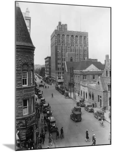Street at Calgary--Mounted Photographic Print