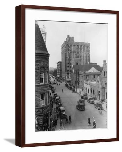 Street at Calgary--Framed Art Print