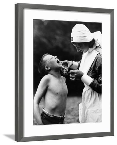 Nurse and Patient--Framed Art Print