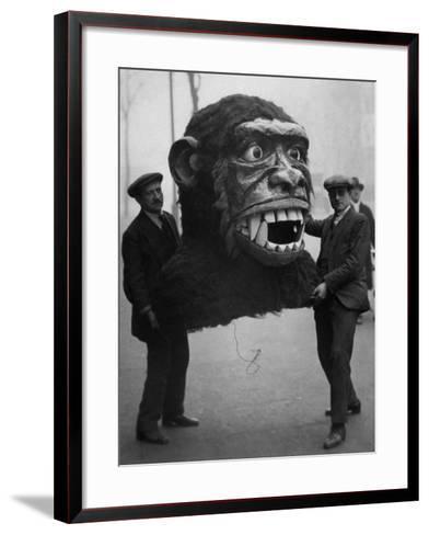 Jungle Monster Head--Framed Art Print