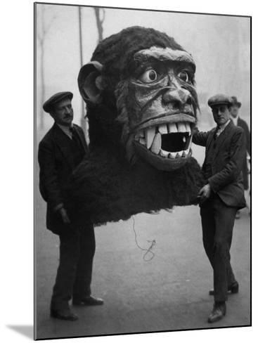 Jungle Monster Head--Mounted Photographic Print