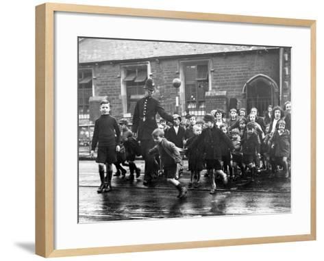 Children Crossing--Framed Art Print