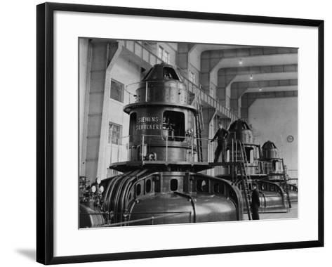 Electricity Plant--Framed Art Print
