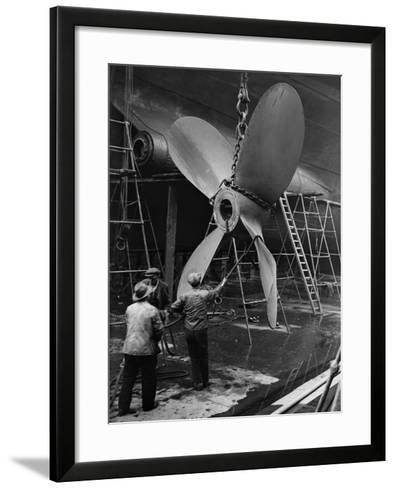 Ship's Propeller--Framed Art Print