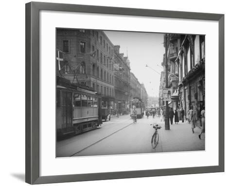 Stockholm Street--Framed Art Print